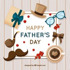 Father's day background with presents in flat style Free Vector Happy Fathers Day Greetings, Fathers Day Wishes, Happy Father Day Quotes, Father's Day Greetings, Fathers Day Cards, Father's Day Printable, Diy Food Gifts, Father's Day Celebration, Dad Day