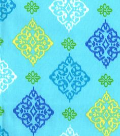 Lisette Collection- Medallion Teal Sateen  42'' Wide. 100% Cotton. Machine Wash Cool, No Chlorine Bleach, Tumble Dry Low, Do Not Iron.