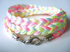 Pastell Neon Armband Hippie