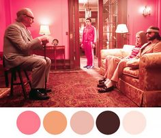 How to Decorate Like Wes Anderson via @MyDomaine | From The Royal Tannembaum's | Pink palettes worked out just right...