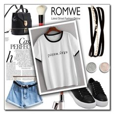 """""""ROMWE VI/10"""" by azrahadzic ❤ liked on Polyvore featuring Kenneth Jay Lane, Bobbi Brown Cosmetics, Terre Mère, Whiteley and Barry M"""