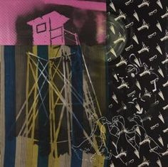 Sigmar Polke, Watchtower with Geese (Hochsitz mit Gnsen), Resin and acrylic paint on various fabrics, 114 x 114 in Bad Painting, Art Pop, Modern Art, Contemporary Art, Claes Oldenburg, Nyc Art, Jasper Johns, Roy Lichtenstein, Gcse Art