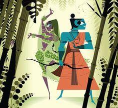 Ramayana: the Divine Loophole, by Sanjay Patel. Krishna, Hindu Deities, Hinduism, Sacred Art, Gods And Goddesses, Religious Art, Figure Painting, Indian Art, Illustration Art