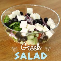 Healthy Vegetable Recipes, Easy Healthy Recipes, Healthy Snacks, Tasty Videos, Food Videos, Best Salad Recipes, Mediterranean Recipes, Diy Food, Food And Drink