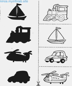 Crafts,Actvities and Worksheets for Preschool,Toddler and Kindergarten.Lots of worksheets and coloring pages. Fun Activities For Toddlers, Preschool Learning Activities, Preschool Curriculum, Kindergarten Worksheets, Infant Activities, Preschool Activities, Motor Activities, Transportation Theme Preschool, Transportation Worksheet