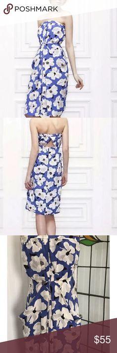 "Anthropologie Vokko Silk Leifsdottir dress Sz 8 Vokko Dress By Leifsdottir  Details:  100% silk  Back zipper  Cut out back Detail  Elastic back  Bust 32"" stretches to 38""  Waist 32""  Length 33"" Anthropologie Dresses"