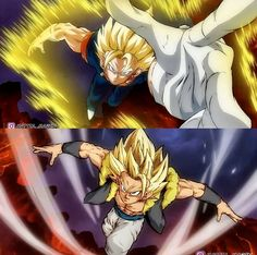Dragon Ball Z, Gogeta E Vegito, Epic Characters, Fusion Art, Animation Film, Fanart, Otaku Anime, Dbz Multiverse, Rwby Bumblebee