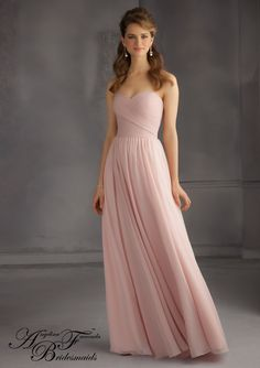 taffeta bridesmaid dress from Angelina Faccenda Bridesmaids by Mori Lee Dress Style 20435 Luxe Chiffon Bridesmaid Dress