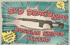 Airsoft-Gewehr SVD Dragunov RUSSIAN SNIPER LEGEND 2,7 Joule   #shootclub #airsoft #softair