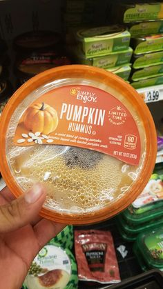 all things pumpkin Item: Pumpkin hummas Found at: Giant grocery store #fall #holidays #pumpkin #autumn #