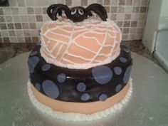 Halloween Fondant Cake with Spider and Web