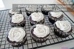 Fudgy AquaFaba Beet Cupcakes with Whipped Coconut Cream Recipe