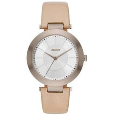 Dkny Tan Womens Stanhope Tan Leather Three-Hand Watch - Women s ( 135) ❤ c0f4d8f9aa