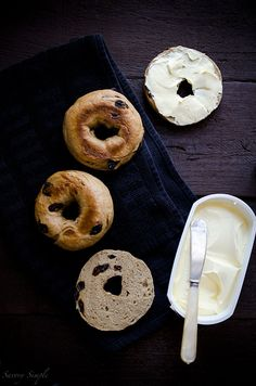 The Best Cinnamon Raisin Bagels - Savory Simple  | Come to Bagels and Bites Cafe in Brighton, MI for all of your bagel and coffee needs! Feel free to call (810) 220-2333 or visit our website www.bagelsandbites.com for more information!