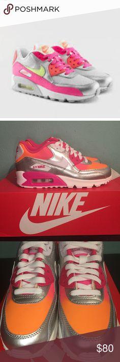 a94ed9a06 Nike Airmax 90 Premium Platinum Pink White Orange Brand new without box.    Kipling