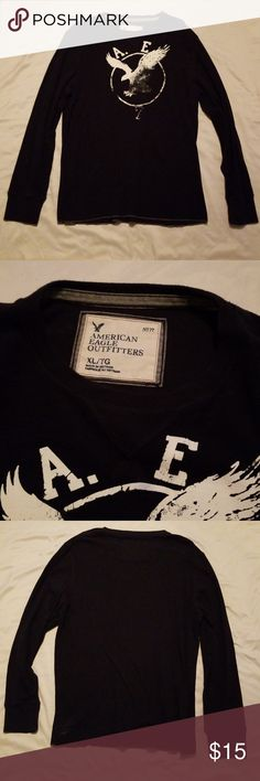 American Eagle Outfitters AEO 45 Tee Mens Printed T-Shirt Navy Blue NWT