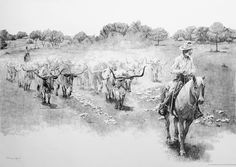 Trailing a Legend, by Joe Belt  Limited edition prints from an original pencil drawing.