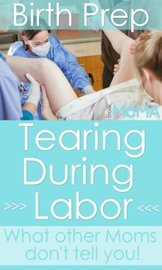 Tearing during birth - What you need to know. Pin to find out how you can prevent it happening during your labor.