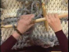 Big Stitch Tunisian Crochet Rug by Becca Smith. Using Big Stitch Alpaca Yarn and a size U Tunisian hook, Becca demonstrates a wonderful rug featuring 3 Tunis...