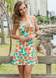 Vestido de Alça Floral - Posthaus