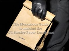 Monoxious Guide: How to DIY your own Jil Sander Paper Lunch bag [DIY Tutorial]