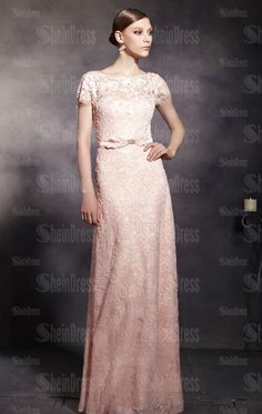 Online Floor Length Pink Evening Prom Dress LFYBD0037, Shop Prom with SheinDress.co.uk