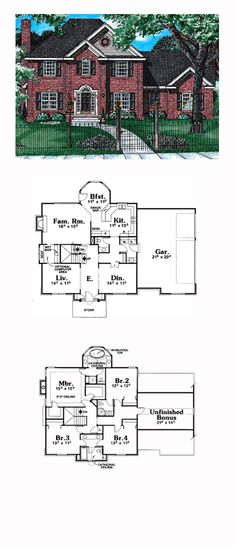 Historic Style COOL House Plan ID: chp-1606 | Total Living Area: 2613 sq. ft., 4 bedrooms and 3.5 bathrooms. #historichome