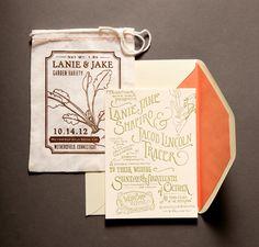 Ladyfingers Letterpress | Bag invite