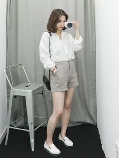 K daily 2016 style Korean Girl Fashion, Ulzzang Fashion, Asian Fashion, Kpop Fashion Outfits, Korean Outfits, Cute Casual Outfits, Simple Outfits, Mode Ulzzang, Aesthetic Clothes