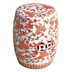 Garden Stools, Chinese Coral Lotus Stool, so pretty, one of over 3,000 limited production interior design inspirations inc, furniture, lighting, mirrors, tabletop accents and gift ideas to enjoy repin and share at InStyle Decor Beverly Hills Hollywood Luxury Home Decor enjoy & happy pinning