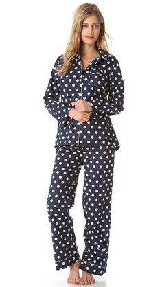 polka dot pajamas for the WIN!
