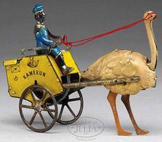 Lehmann Kamerun ostrich postal delivery cart, c.1900-1925, Germany