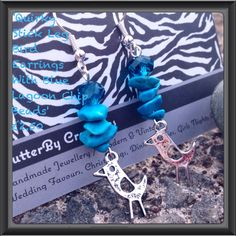 Quirky Bird Earrings FlutterBy Creations