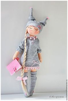 Купить Сказки на ночь. Повтор Златы. Текстильная кукла. - розовый, сонный ангел…