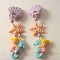 Polly Pocket mermaid earrings!