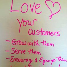 Love your customers