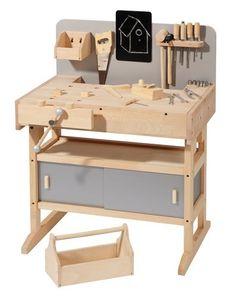 massive Werkbank von howa aus Hartholz incl. Werkzeugkiste und 32 tlg. Werkzeug 4900