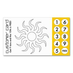 Tanning Salon Customer Loyalty Punch Card Pinterest Loyalty - Loyalty punch card template