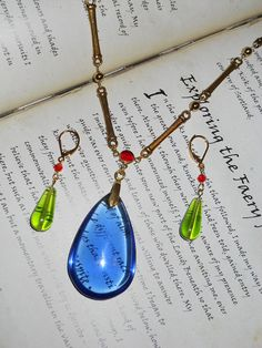 Howl's Moving Castle Howl's earrings and necklace Jewelry Set