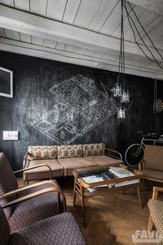 Industriální obývací pokoje inspirace - Ateliér Plusminus - Favi.cz