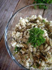 Savory Seeded Cauliflower RIce - Nouveau Raw