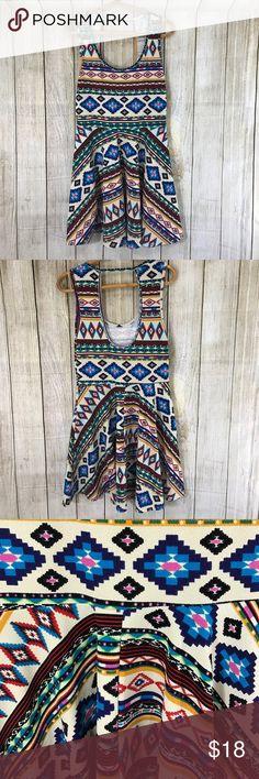 "Mandy K Aztec Tribal summer dress flowy festival Adorable summer dress ! 33"" long 17"" chest 14"" across waist. Size M Mandy K Dresses"