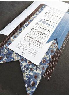 Trendy Wedding, blog idées et inspirations mariage ♥ French Wedding Blog: {faire part} Carterie papier et textile