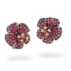 Rose Gold Le Vian Aloha Collection Hibiscus Earrings with Pink Sapphires and Diamonds - Le Vian Jewelry -