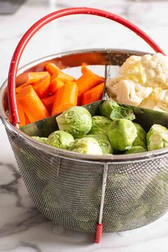Instant Pot Steamed Vegetables - iFOODreal.com Pressure Cooker Recipes, Pressure Cooking, Instant Pot Steamed Vegetables, Olive Oil Dip, Healthy Fried Chicken, Lettuce Recipes, Steam Veggies, Everything Bagel, Cooking Time