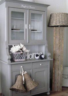 Buffet double corps vaisselier relook st germain d co bistrot r tro relooking cm homedeco - Photos de meubles repeints ...