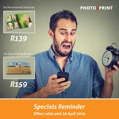 Don't miss out on these incredible offers...Offers only valid until 30 April 2016. #specials #gifts #reminder #photo2print