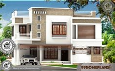 Architectural Design Of A House 90 2 Floor Modern House Design Best Modern House Design, Modern Minimalist House, Classic House Design, Contemporary House Plans, Small House Design, House Arch Design, Village House Design, Kerala House Design, Architectural Design House Plans