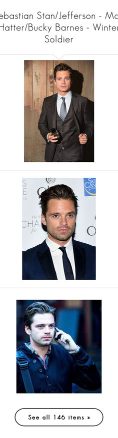 """""""Sebastian Stan/Jefferson - Mad Hatter/Bucky Barnes - Winter Soldier"""" by c-a-marie2000 ❤ liked on Polyvore featuring sebastian stan, marvel, bucky, hero, marvel/dc, marvel bucky, phrase, quotes, saying and text"""