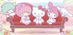 Sanrio ✁ Sanrio Characters, Fictional Characters, Hello Kitty My Melody, Sanrio Wallpaper, Little Twin Stars, Piano, Bunny, Kawaii, Toys